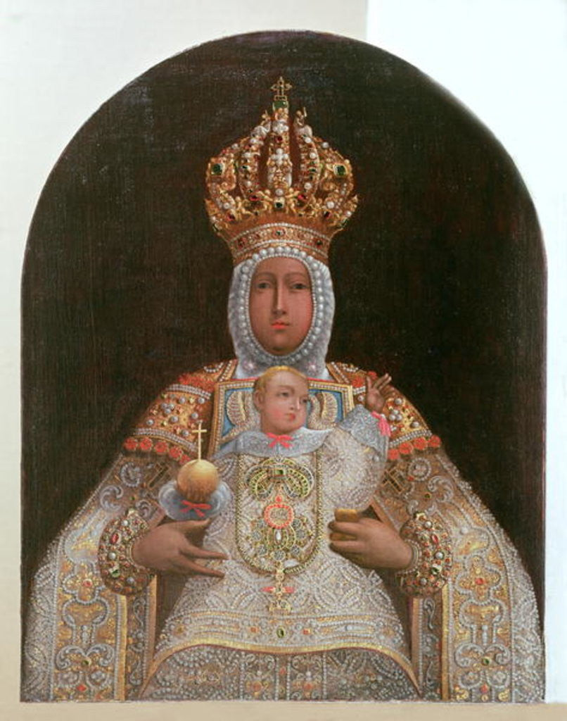 Detail of Madonna and Child, School of Cusco by Anonymous