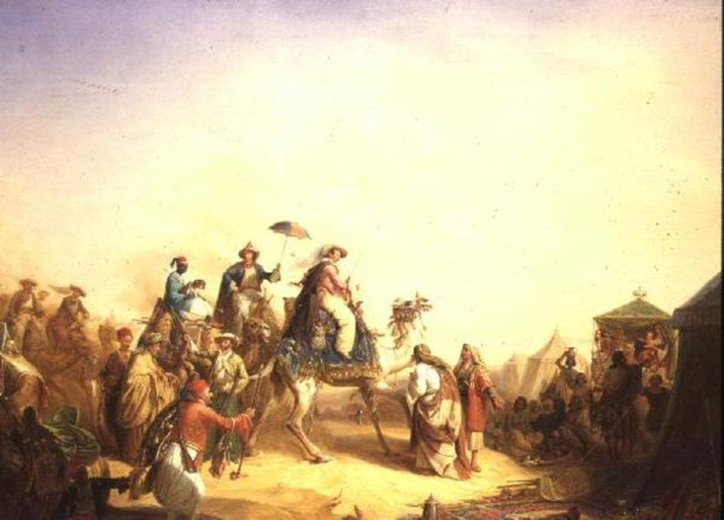 Detail of Duke Ernest of Saxe Cobourg Gotha's tour to Egypt by Robert Kretzchmar