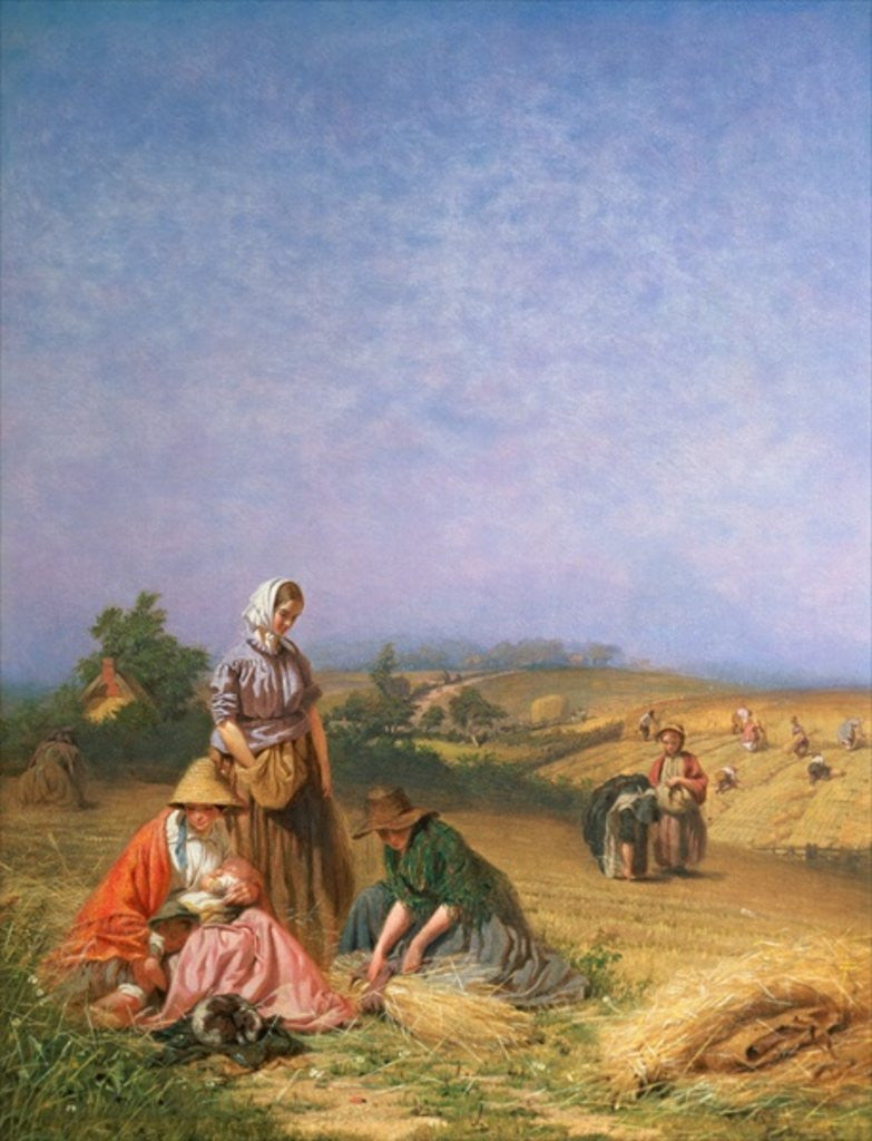 Detail of Gleaning by George Elgar Hicks