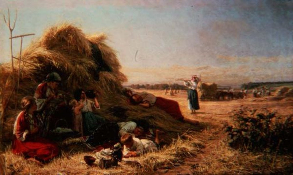 Detail of Work in the Fields by Pavel Aleksandrovich Bryullov