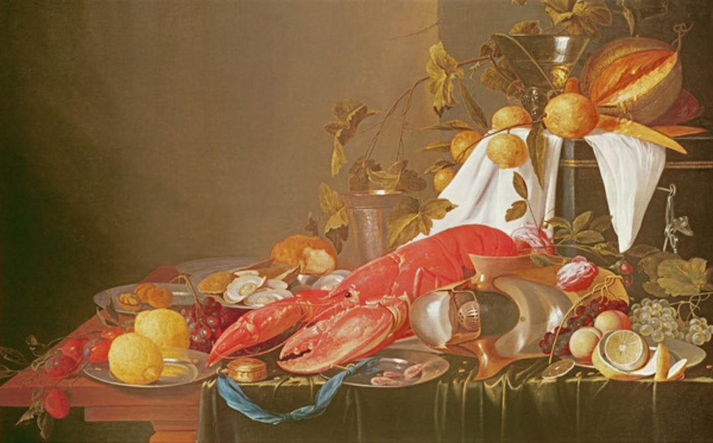 Detail of Banquet Still Life by Joris van Son