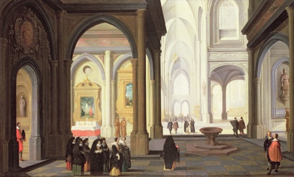 Detail of Church Interior by Antoni van Dalen
