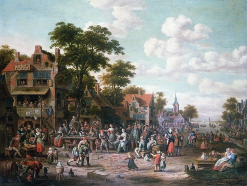 Detail of Village Festival by Rutger Verburgh