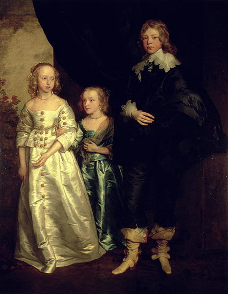 Detail of The Children of Thomas Wentworth, 1st Earl of Strafford, 17th century by Sir Anthony van Dyck
