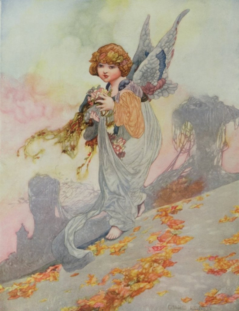 Detail of Autumn from the Seasons commissioned for the 1920 Pears Annual by Charles Robinson