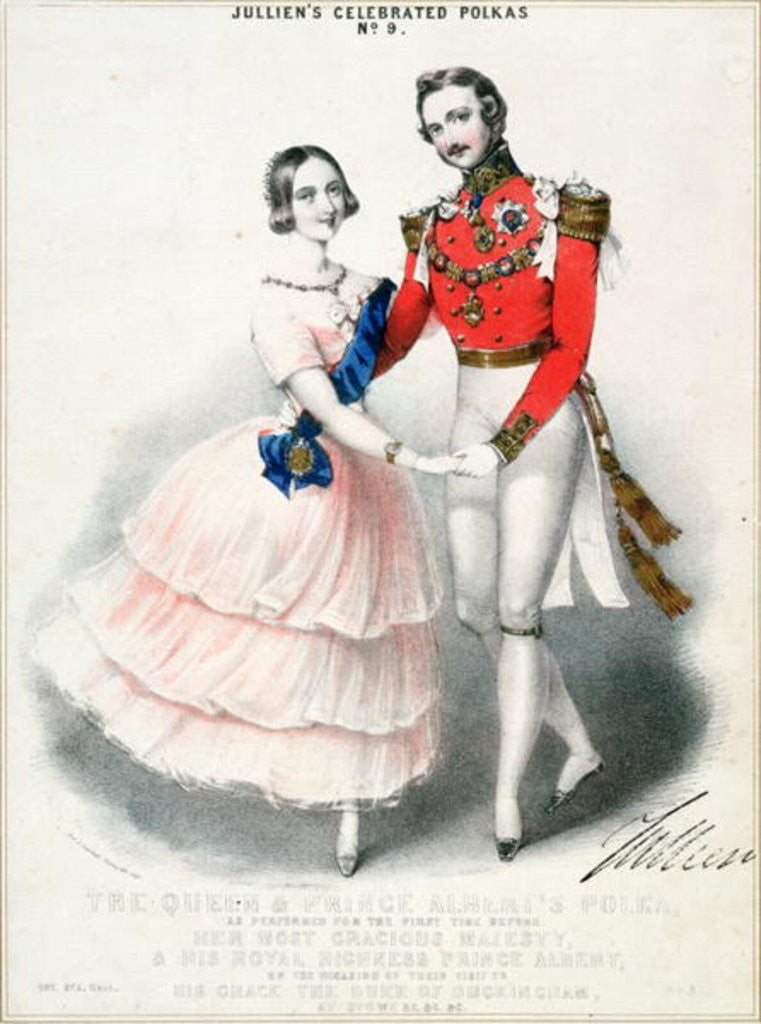 Detail of Jullien's Celebrated Polkas No.9: The Queen and Prince Albert's Polka by M. and N. Hanhart by English School