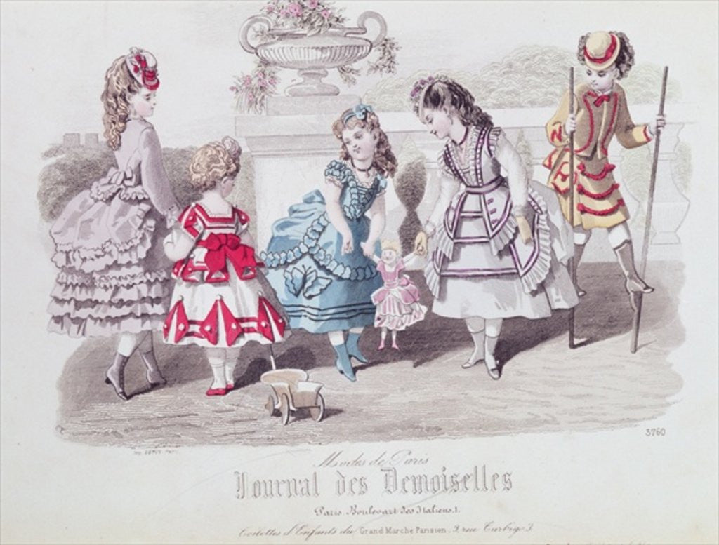 Detail of Fashions for Girls by French School