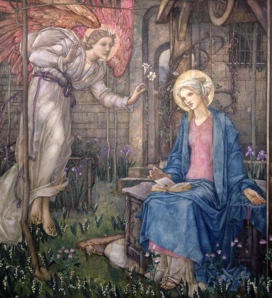 Detail of The Annunciation by Edward Reginald Frampton