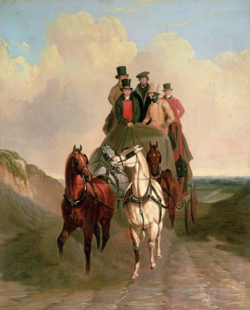 Detail of A Coach and Four on an Open Road by William Snr. Shayer