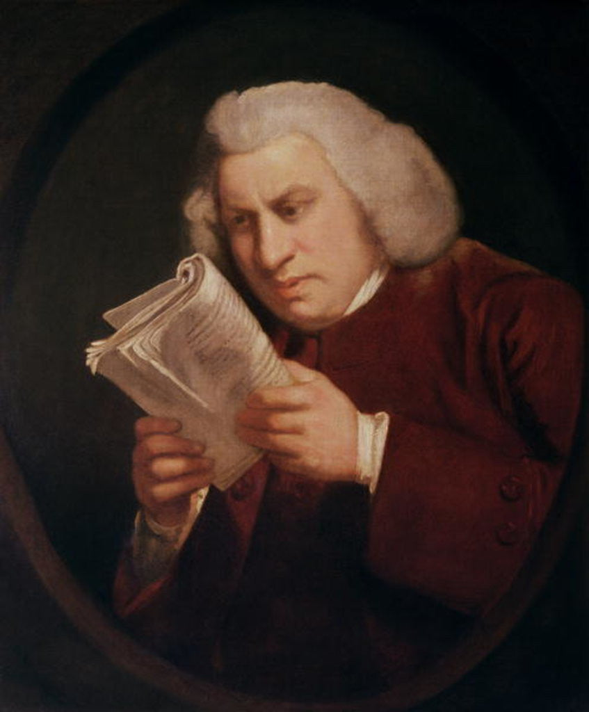Detail of Dr. Samuel Johnson by Sir Joshua Reynolds