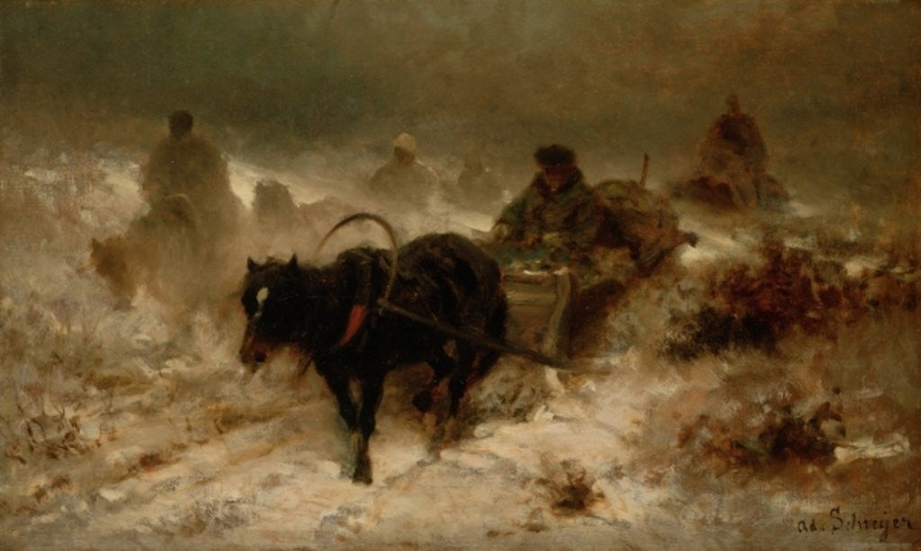Detail of Returning Home by Adolf Schreyer