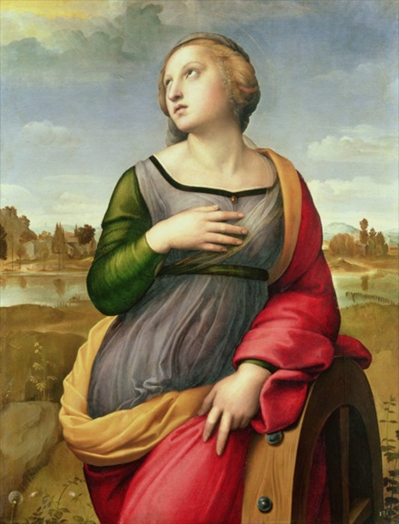 Detail of St. Catherine of Alexandria, 1507-8 by Raphael