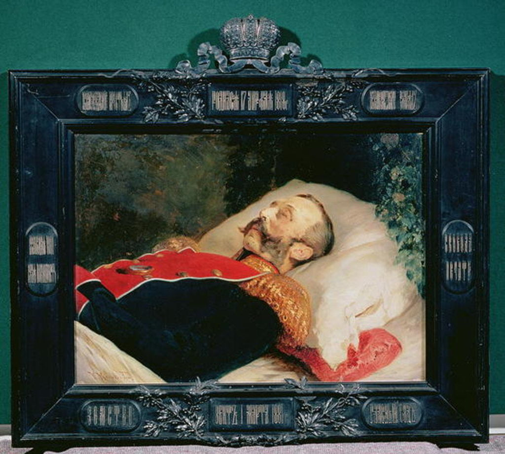 Detail of Emperor Alexander II on His Deathbed by Konstantin Egorovich Makovsky