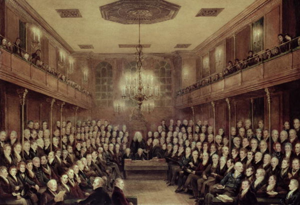 Detail of The House of Commons in Session by English School