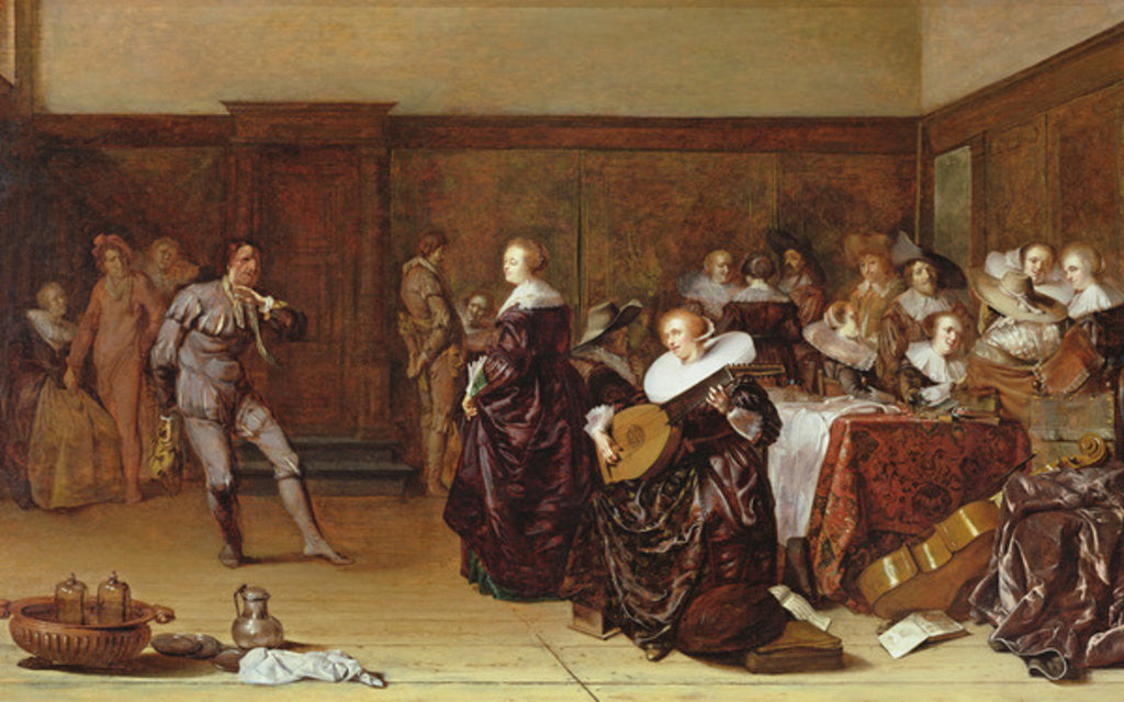 Detail of Dancing Party, 17th century by Pieter Codde