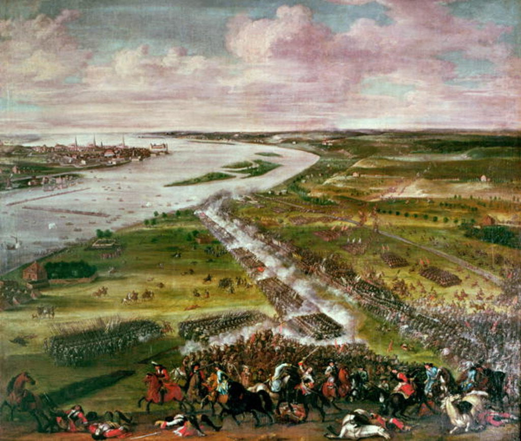 Detail of Battle for the Crossing of the Dvina by Swedish School