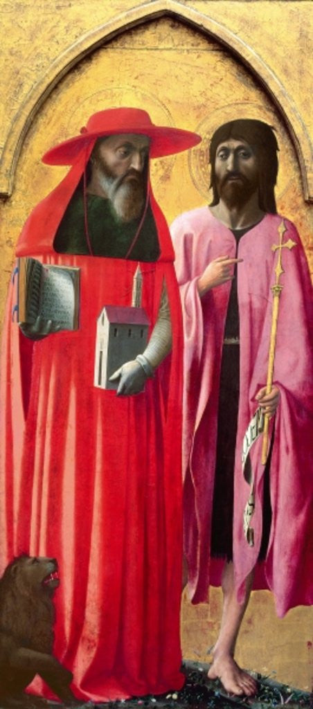 Detail of St. Jerome and St. John the Baptist by T. & Masolino