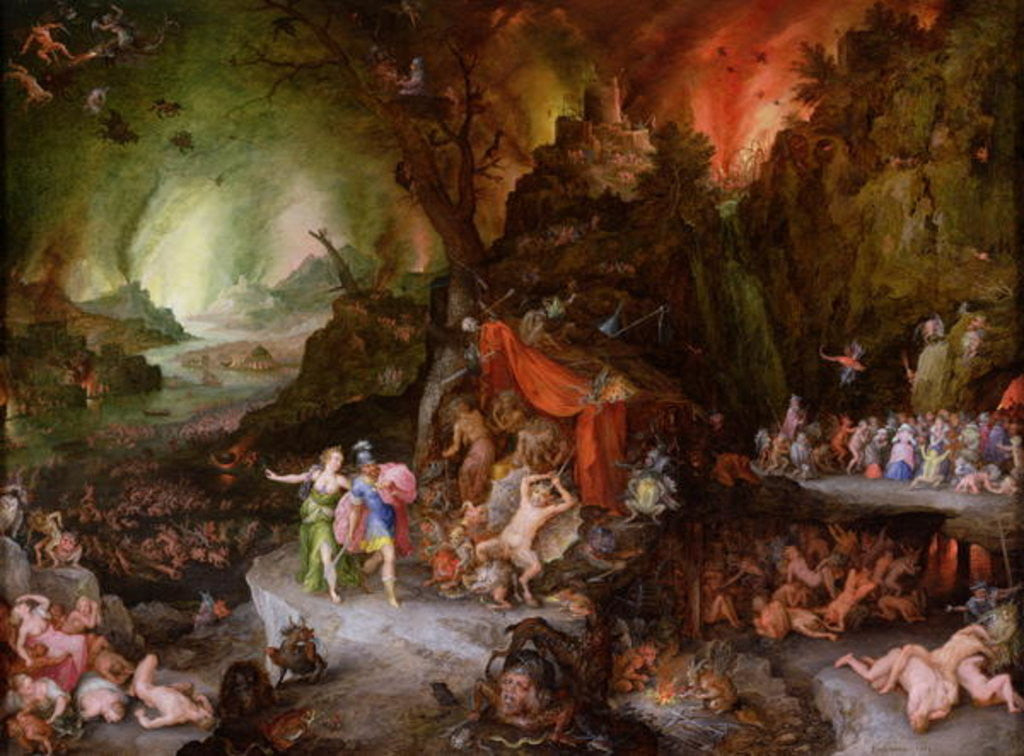 Detail of Aeneas and the Sibyl in the Underworld by Jan the Elder Brueghel