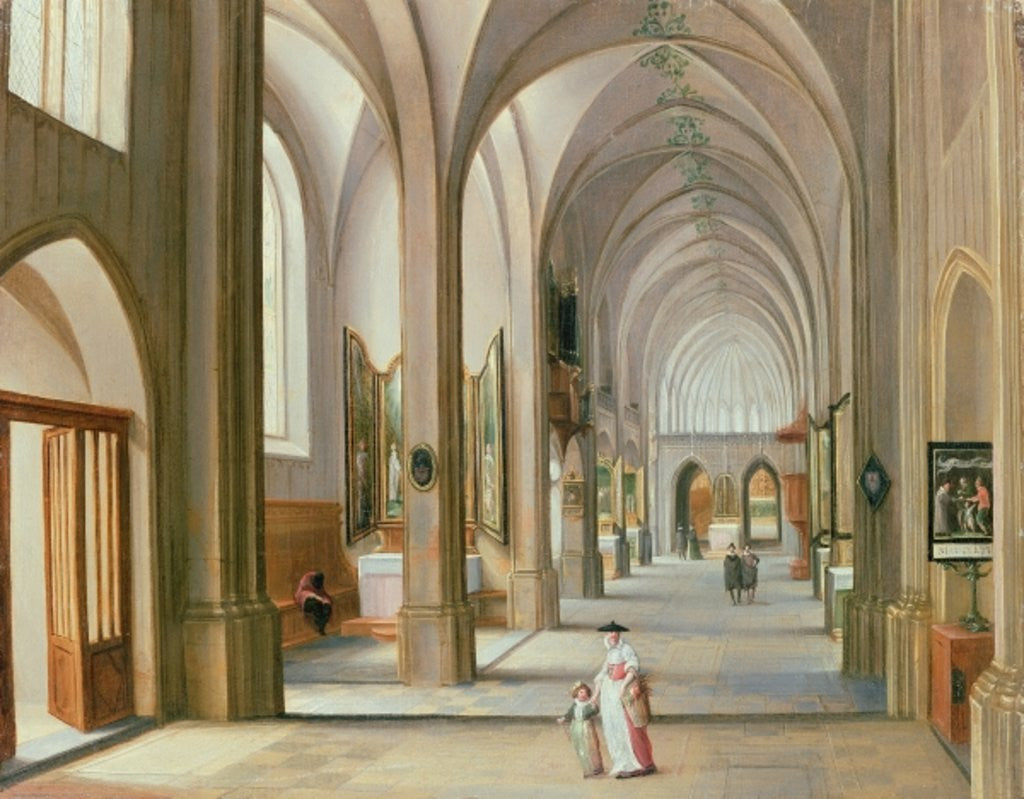 Detail of Church Interior by Hendrik van Steenwyck