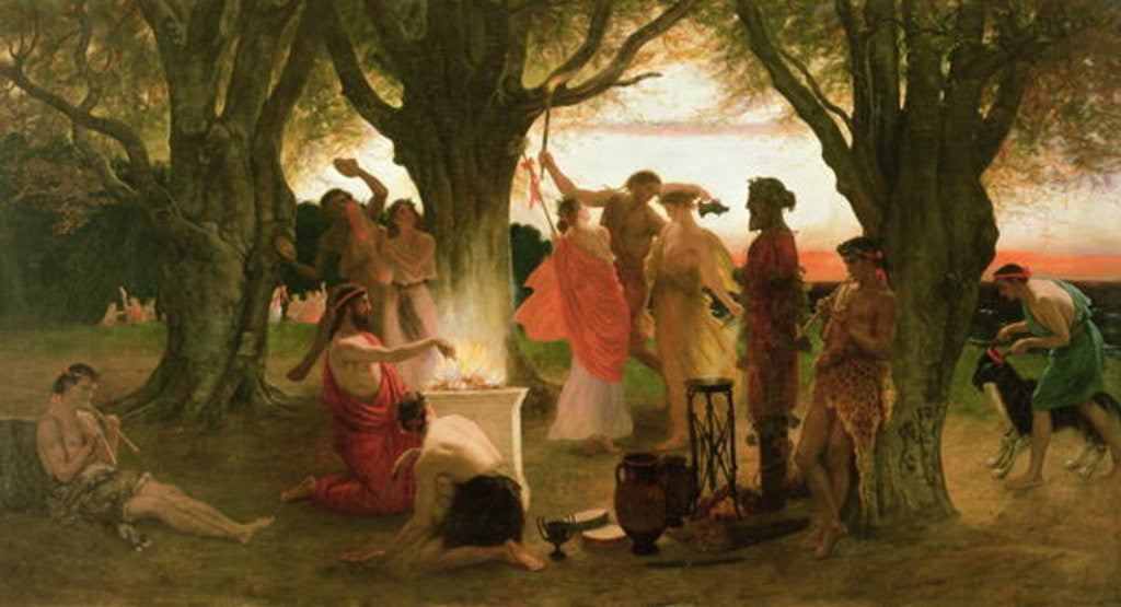Detail of A Greek Festival by Thomas Ralph Spence