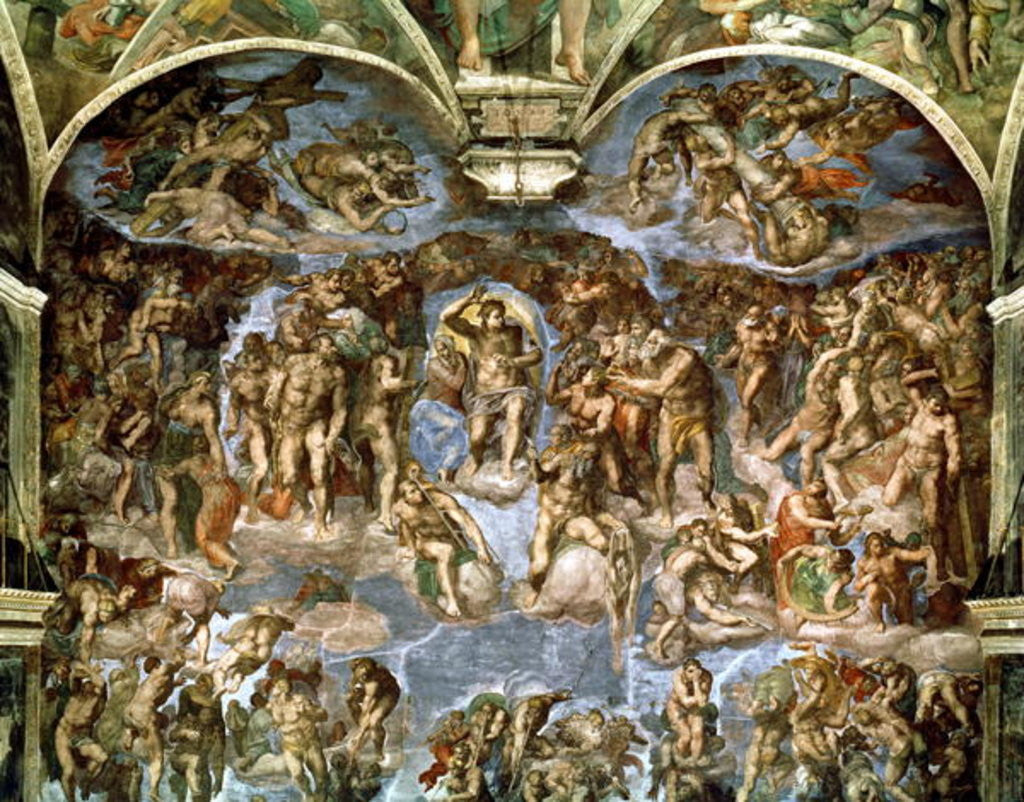 Detail of Last Judgement by Michelangelo Buonarroti