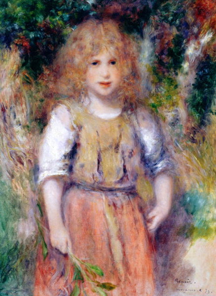 Detail of Gypsy Girl by Pierre Auguste Renoir