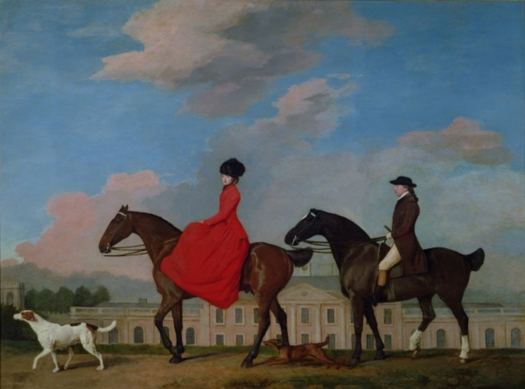 Detail of John and Sophia Musters riding at Colwick Hall by George Stubbs