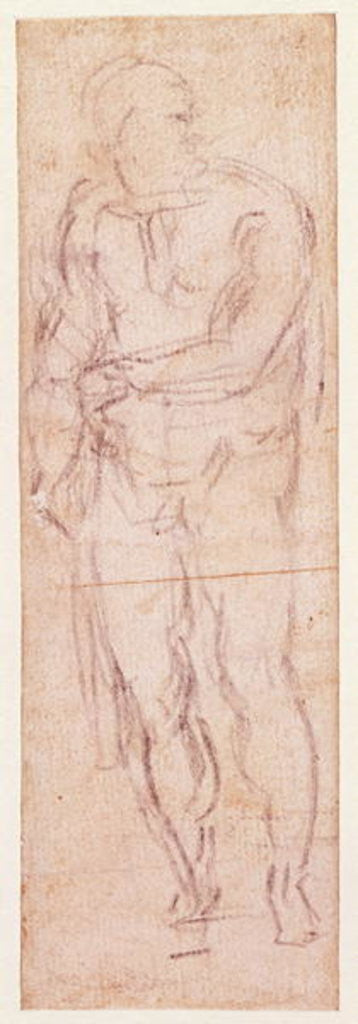 Detail of Study for Adam in 'The Expulsion' by Michelangelo Buonarroti