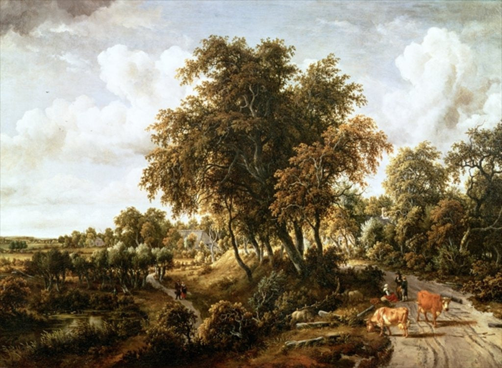 Detail of Road on the Dyke by Meindert Hobbema