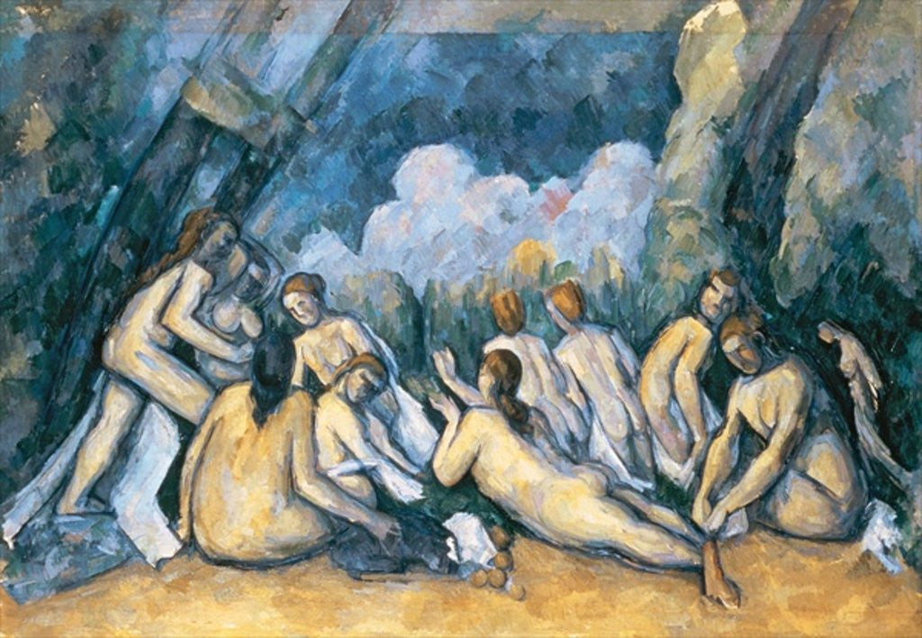 Detail of The Large Bathers by Paul Cezanne