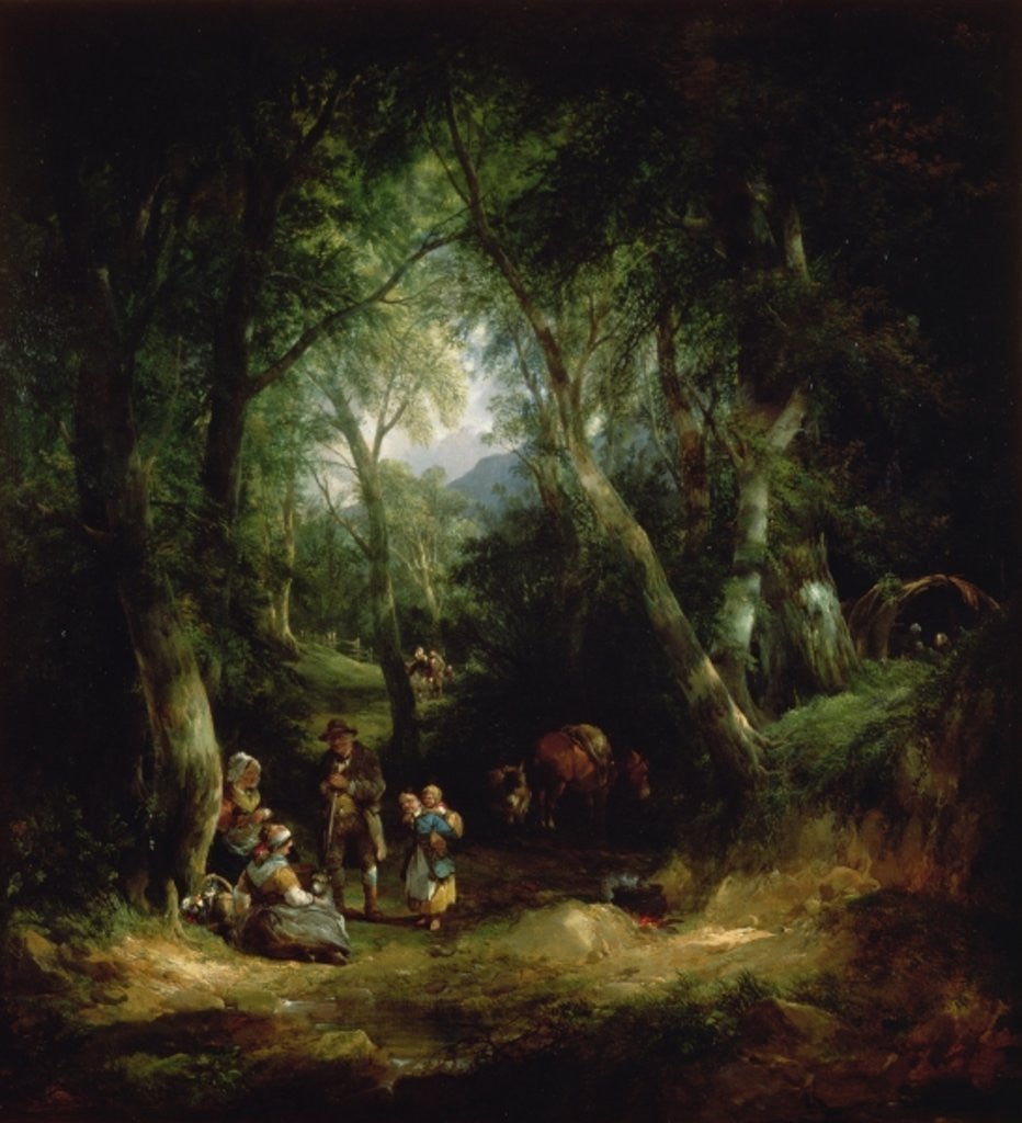 Detail of Gypsy Encampment in the New Forest by William Snr. Shayer