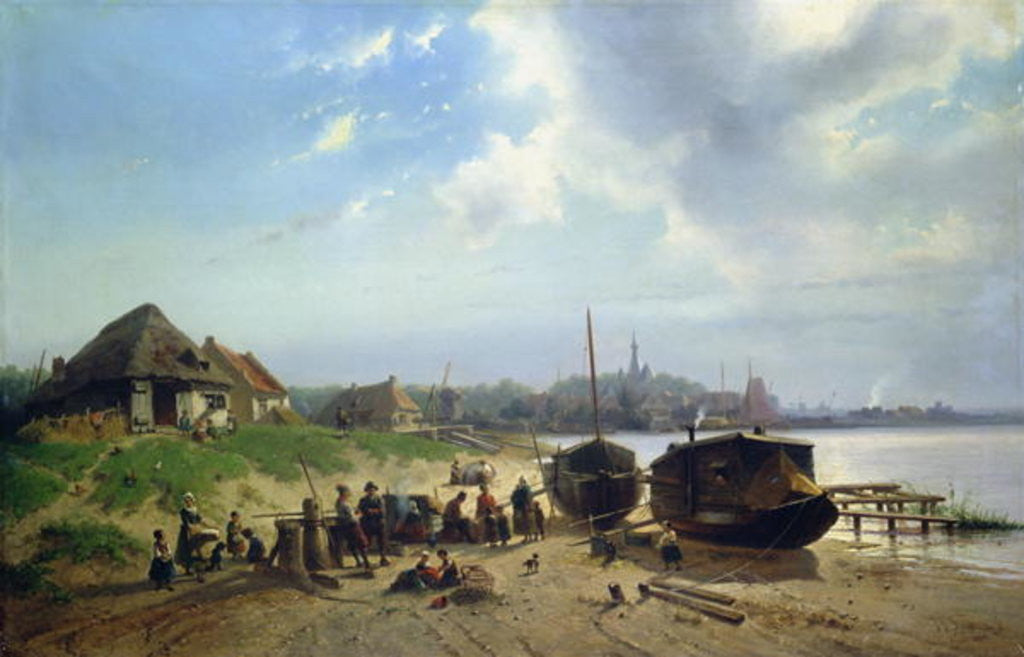 Detail of View of the Dutch Coast by Johan Gerard Smits