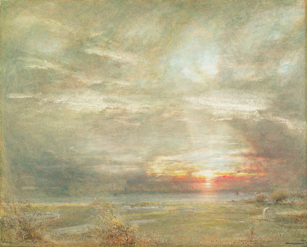 Venice from the Hebrew Cemetery by Albert Goodwin