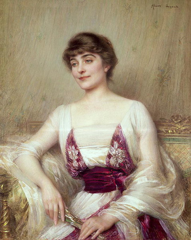 Detail of Portrait of a Countess by Albert Lynch