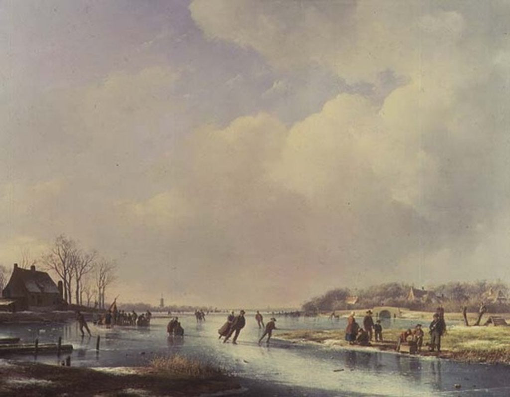 Detail of Winter Scene by Andreas Schelfhout