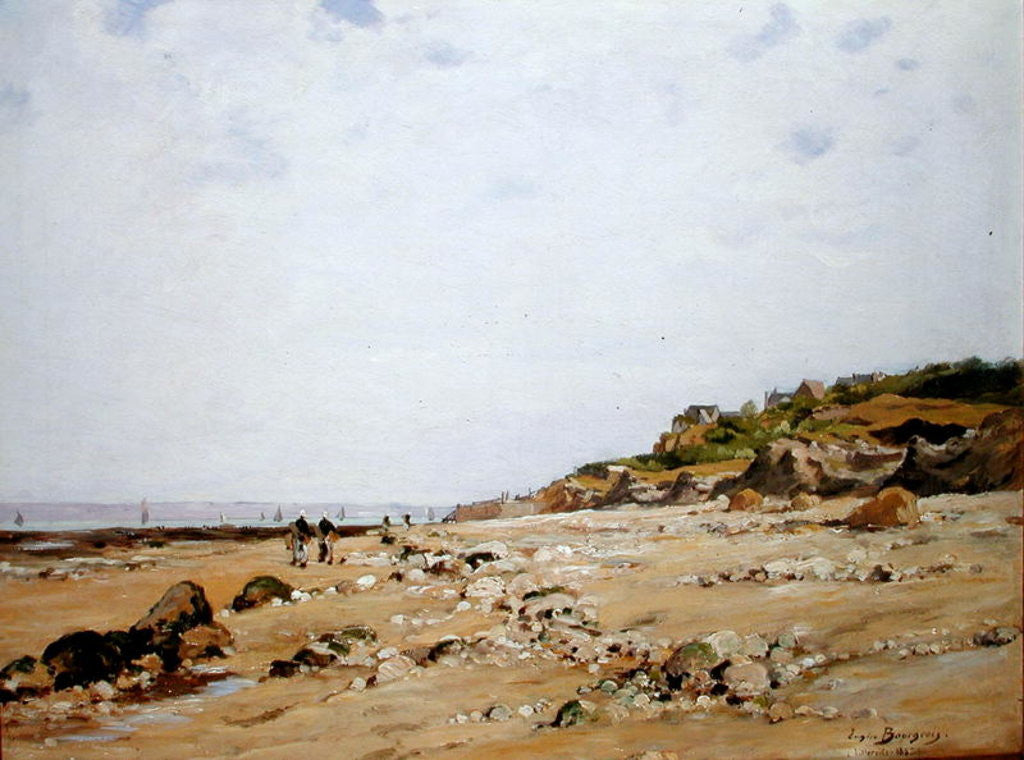 Detail of The Beach at Villerville by Eugene Bourgeois