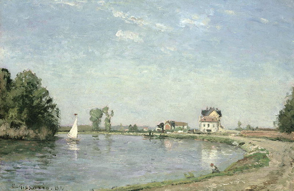 Detail of At the River's Edge by Camille Pissarro