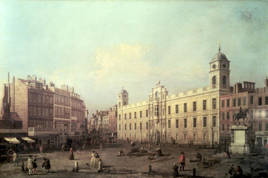 Detail of Northumberland House by Canaletto