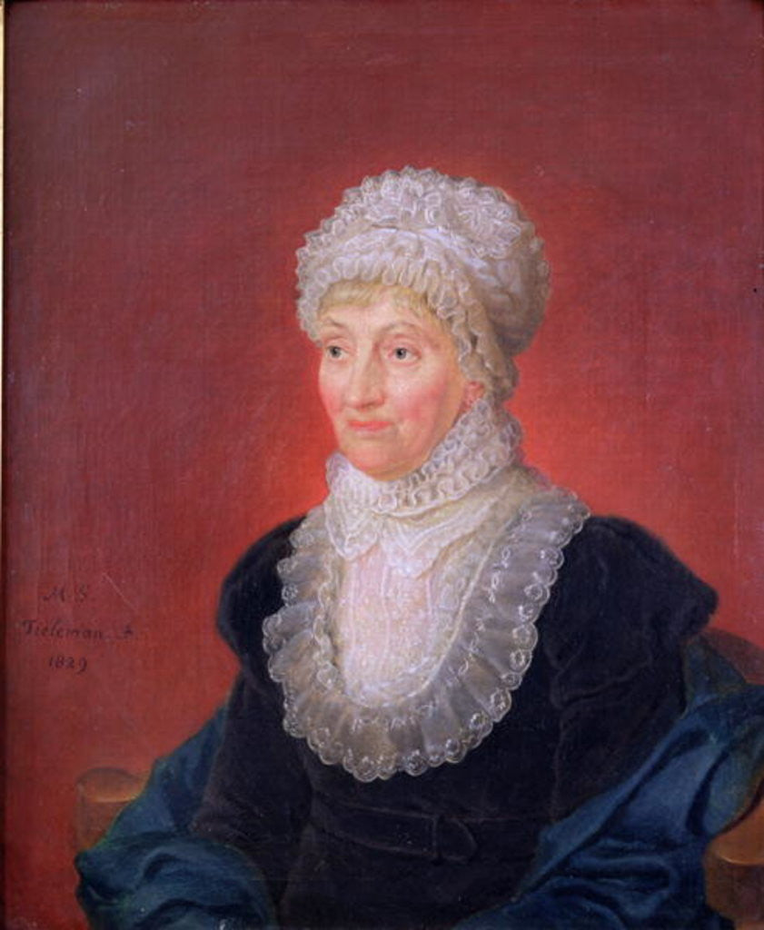 Detail of Caroline Herschel by Martin Francois Tielemans