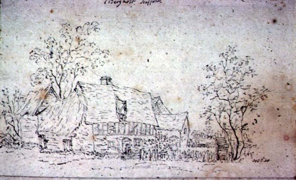 Detail of Cottage at East Bergholt by John Constable