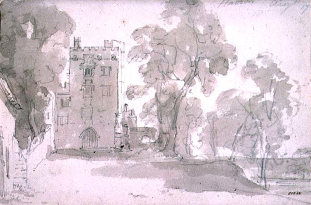 Detail of Haddon Hall by John Constable