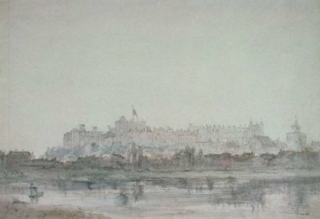 Detail of Windsor Castle from the River by John Constable