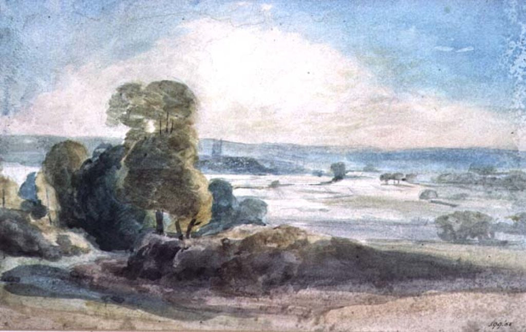 Detail of Dedham Vale by John Constable