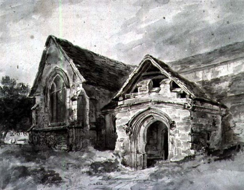 Detail of Porch and Transept of a Church by John Constable