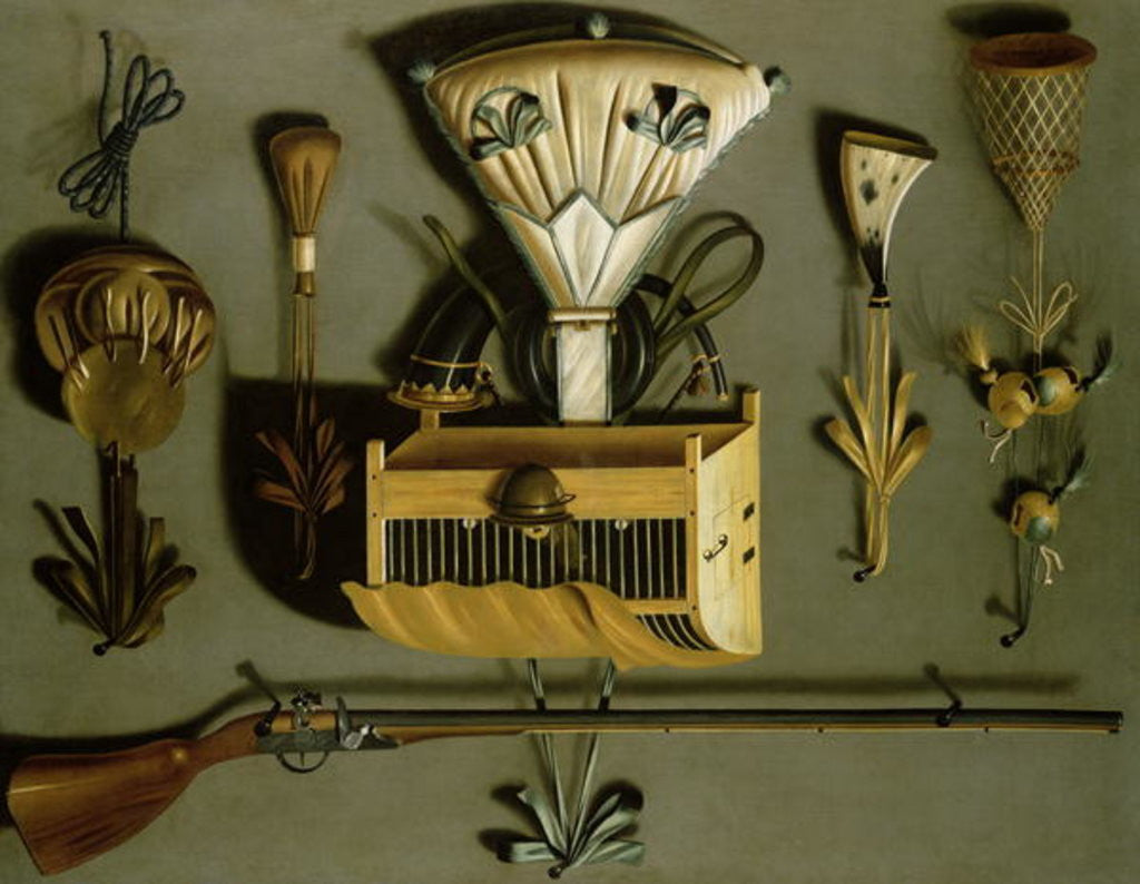 Detail of Hunting Equipment by Johannes Leemans