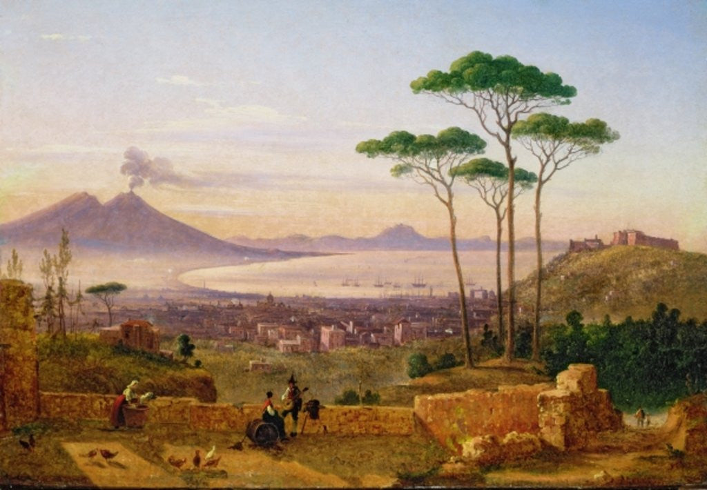 Detail of Bay of Naples by Andrea da Crescio