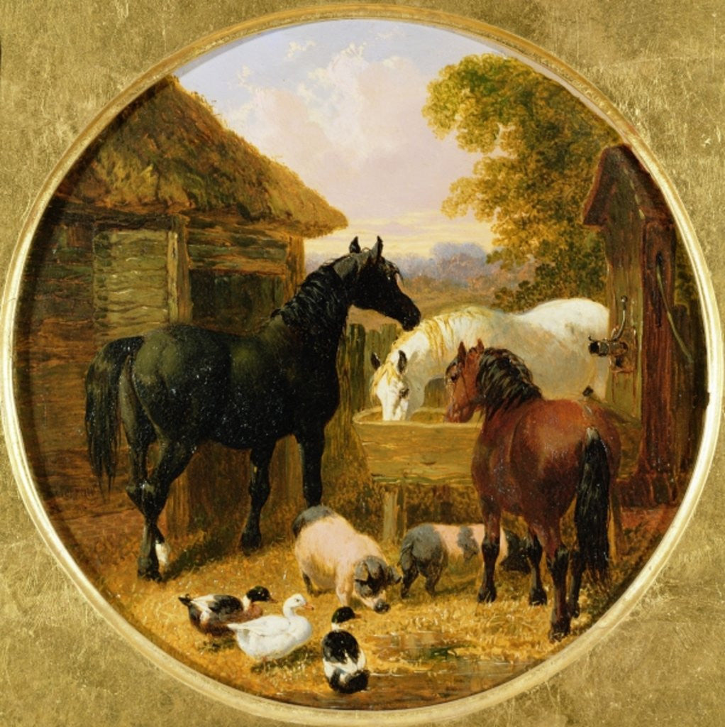 Detail of Farmyard Scene by John Frederick Herring Jnr
