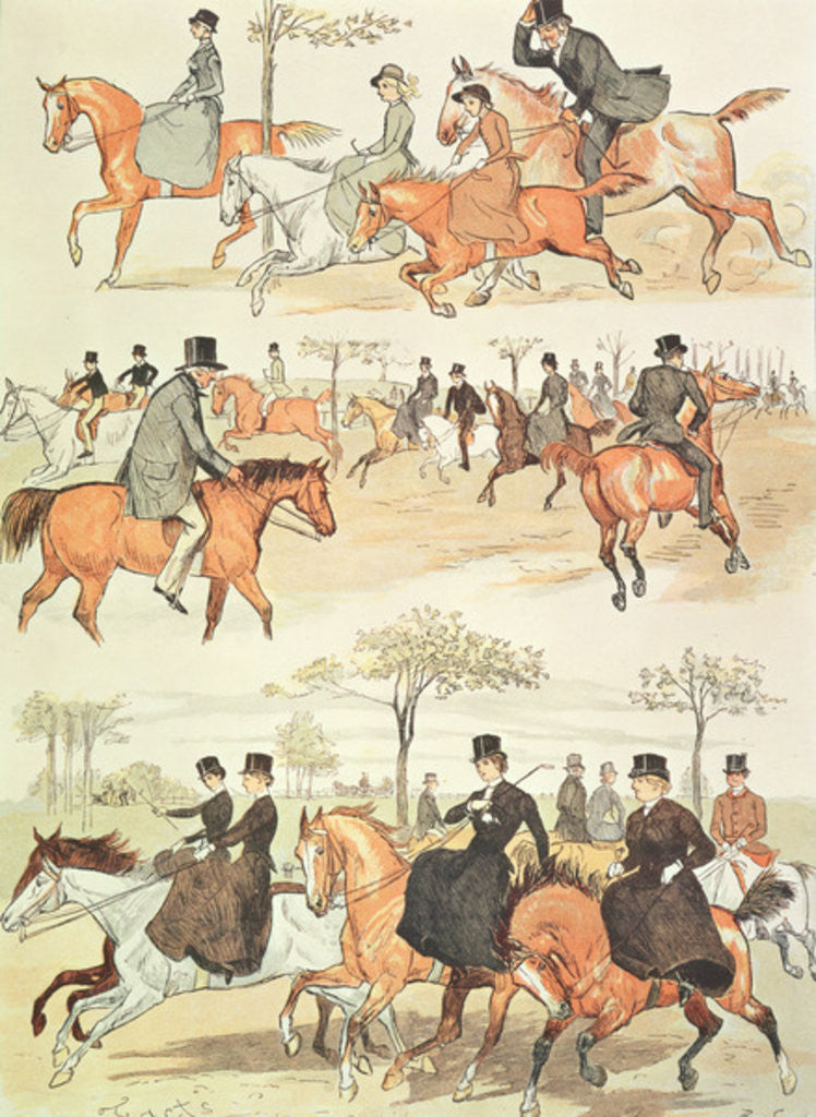 Detail of Riding Side-saddle by Randolph Caldecott