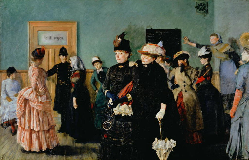 Detail of Albertine at the Police Doctor's waiting room by Christian Krohg