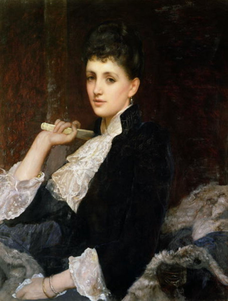 Detail of Countess of Airlie by Sir William Blake Richmond